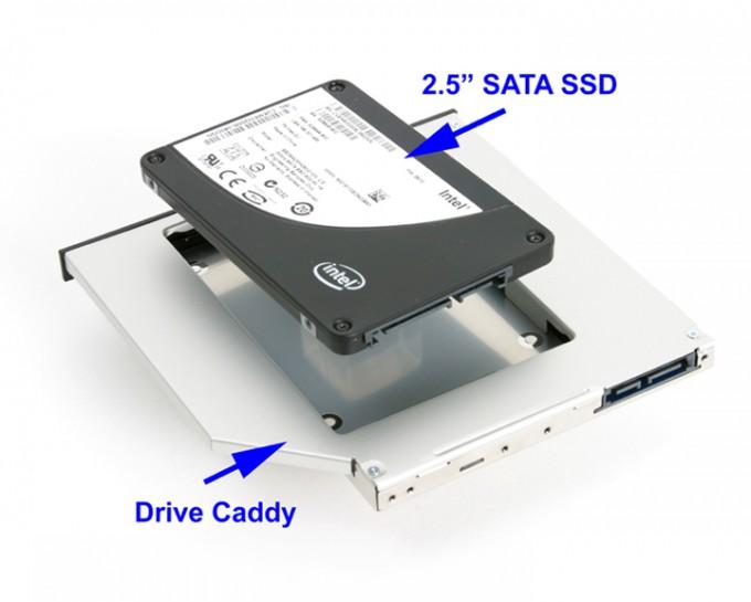 如何利用笔记本未使用的光驱位来升级您的计算机