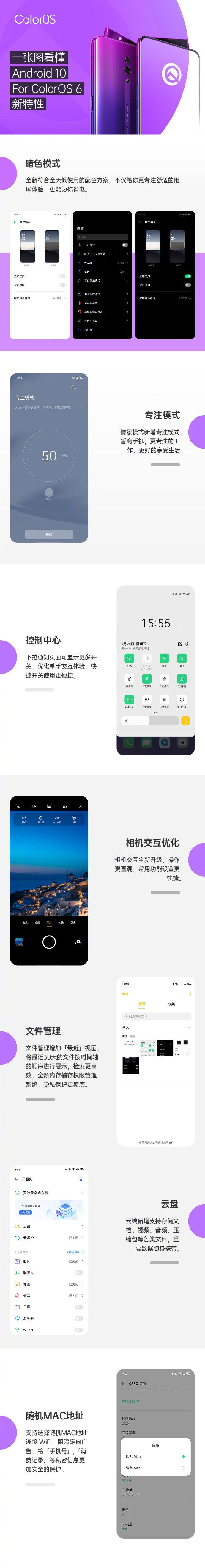 一张图看懂Android 10 For ColorOS 6新特性