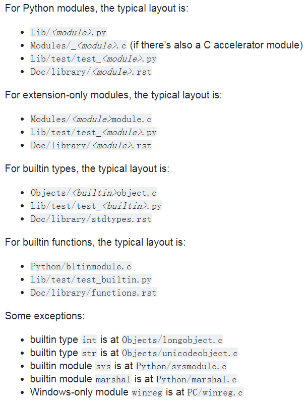 CPython Source Code Layout