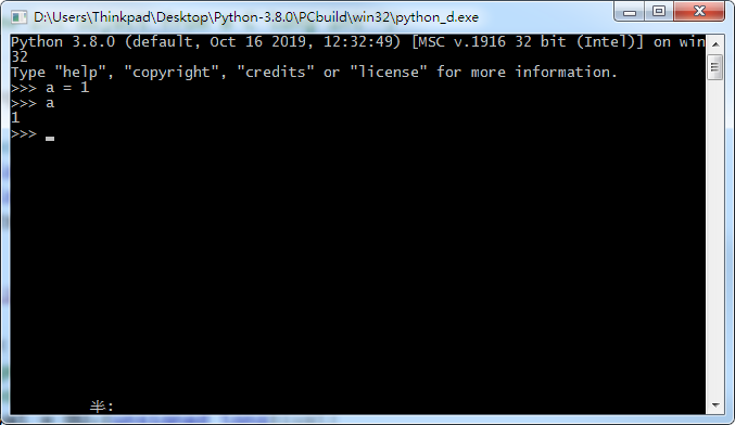 python38_d debug console