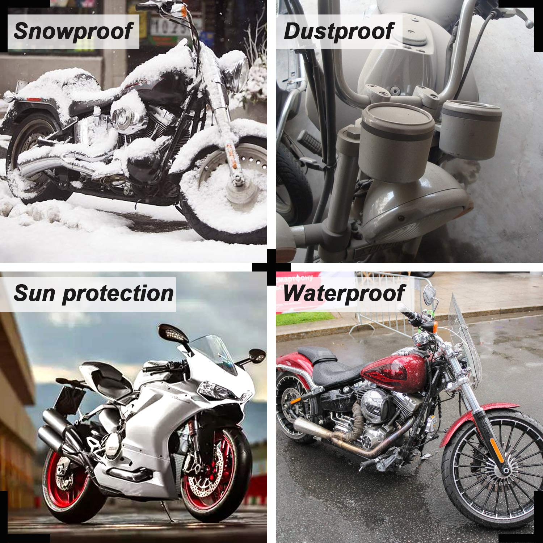 Housse de protection pour moto en nylon imperm/éable Noir et argent violet