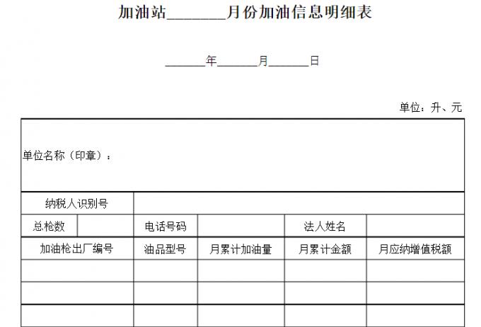 《加油站月份加油信息明细表》和《加油站月销售油品汇总表》是否需要申报