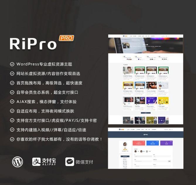Wordpress主题ripro4.3完全解密去授权无限制主题破解版.