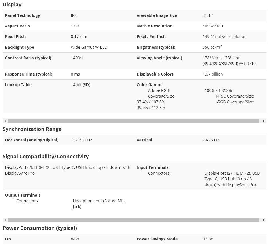 NEC全新31英寸4K显示器「MultiSync PA311D」发布