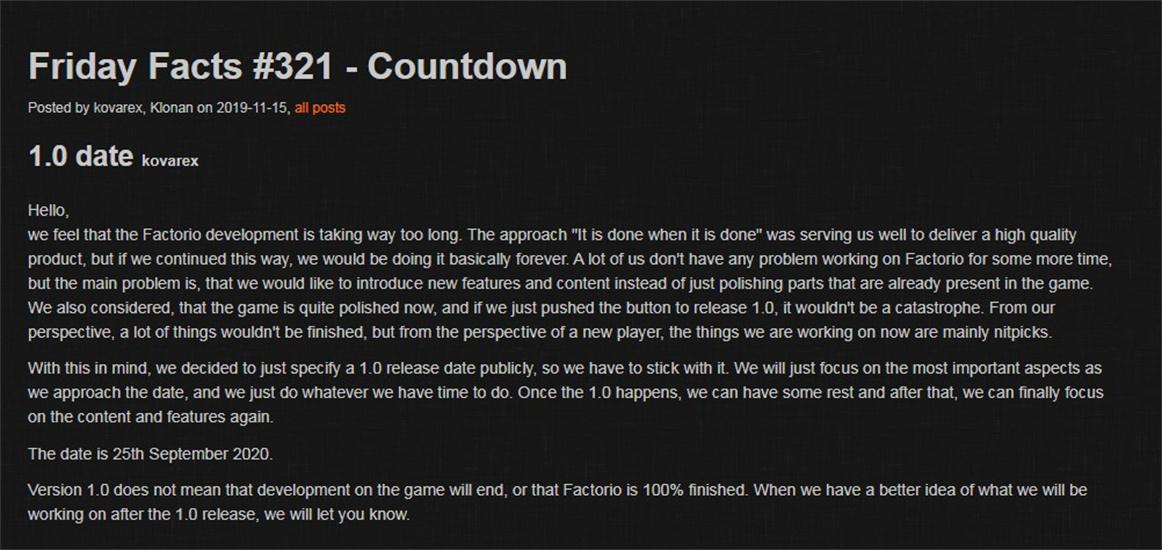 《异星工厂》将结束EA测试 正式版将于2020年推出