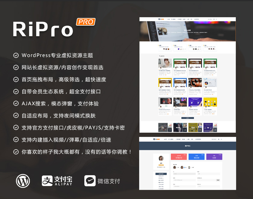 RiPro6.4日主题去授权完美破解版含日主题子主题
