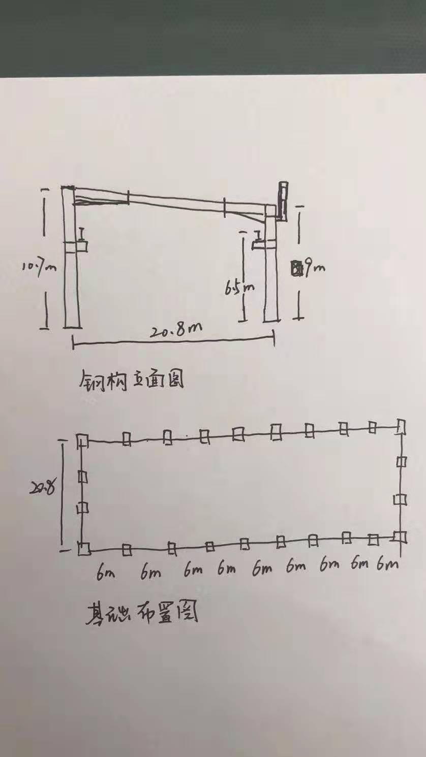 出售河北沧州全新未用行车房宽21.5米×长54.5米×高9米行车房