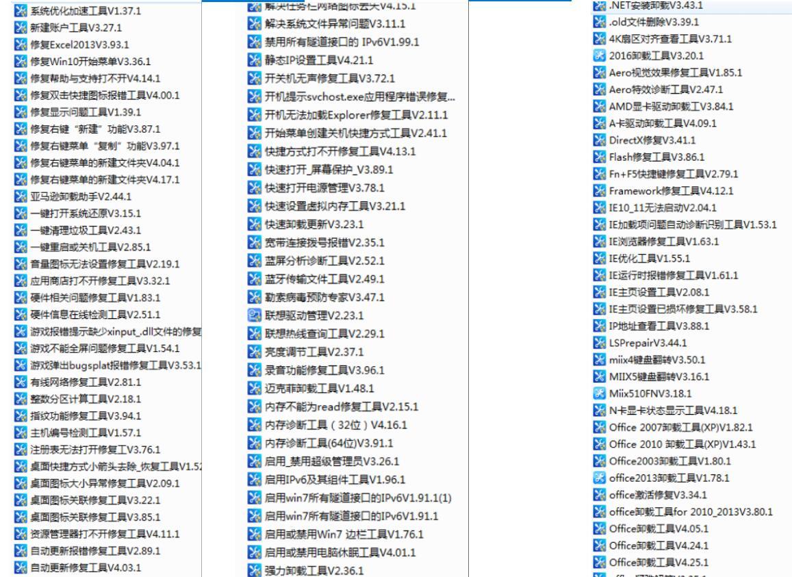 204个电脑工程师专用工具软件下载