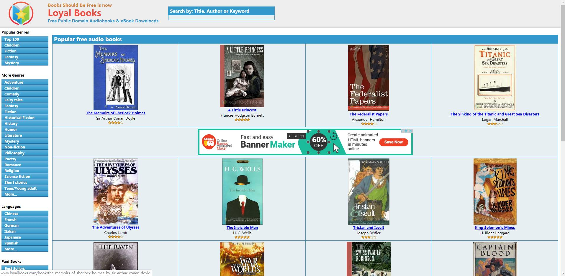 LoyalBooks:英文有声读物网