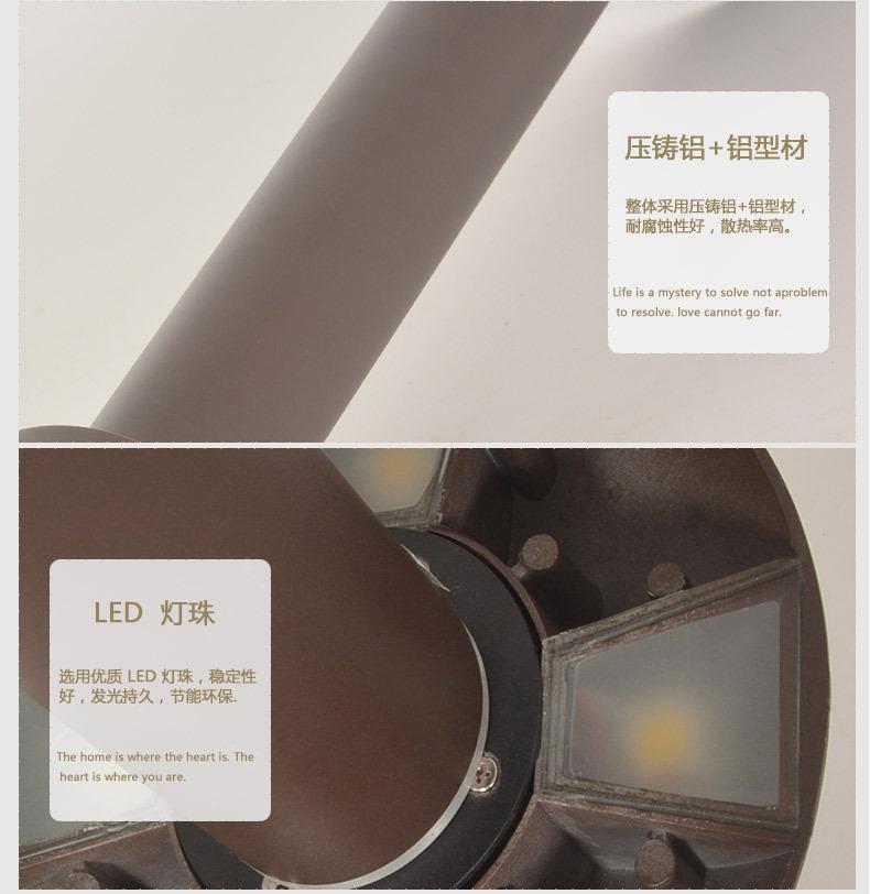 HGCPD-019 蘑菇型草帽型户外庭院别墅小区公园防水防锈LED草坪灯材料
