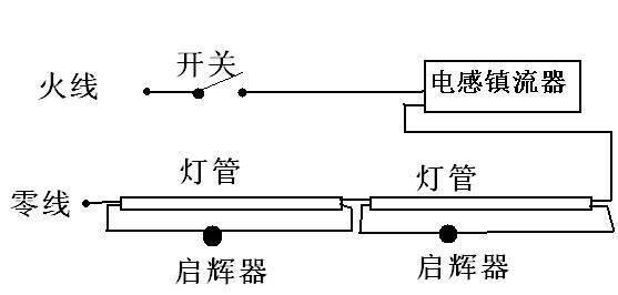 电感镇流器接线图