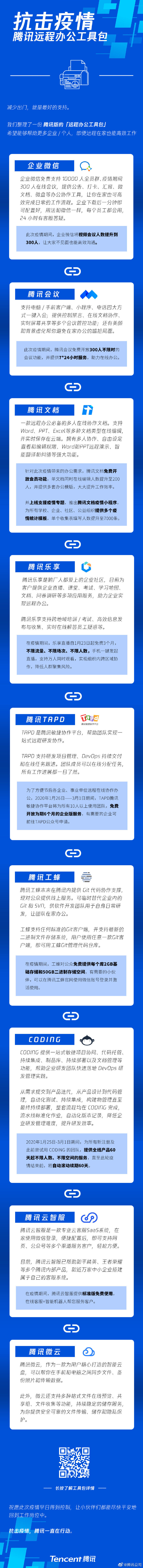 腾讯公司发布腾讯版「远程办公工具包」-玩懂手机网 - 玩懂手机第一手的手机资讯网(www.wdshouji.com)