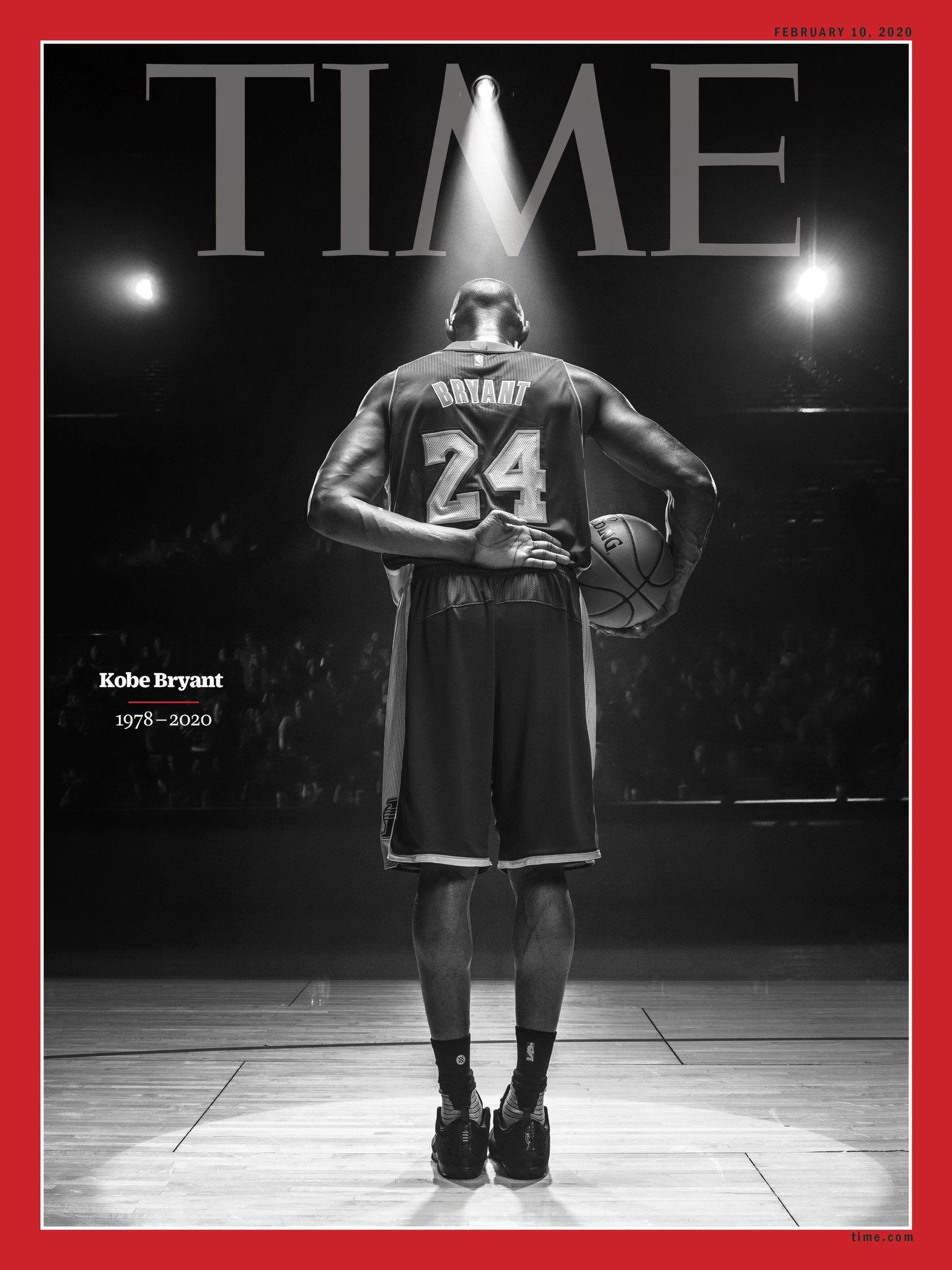 NBA历史第三人:科比即将登上《时代》周刊封面