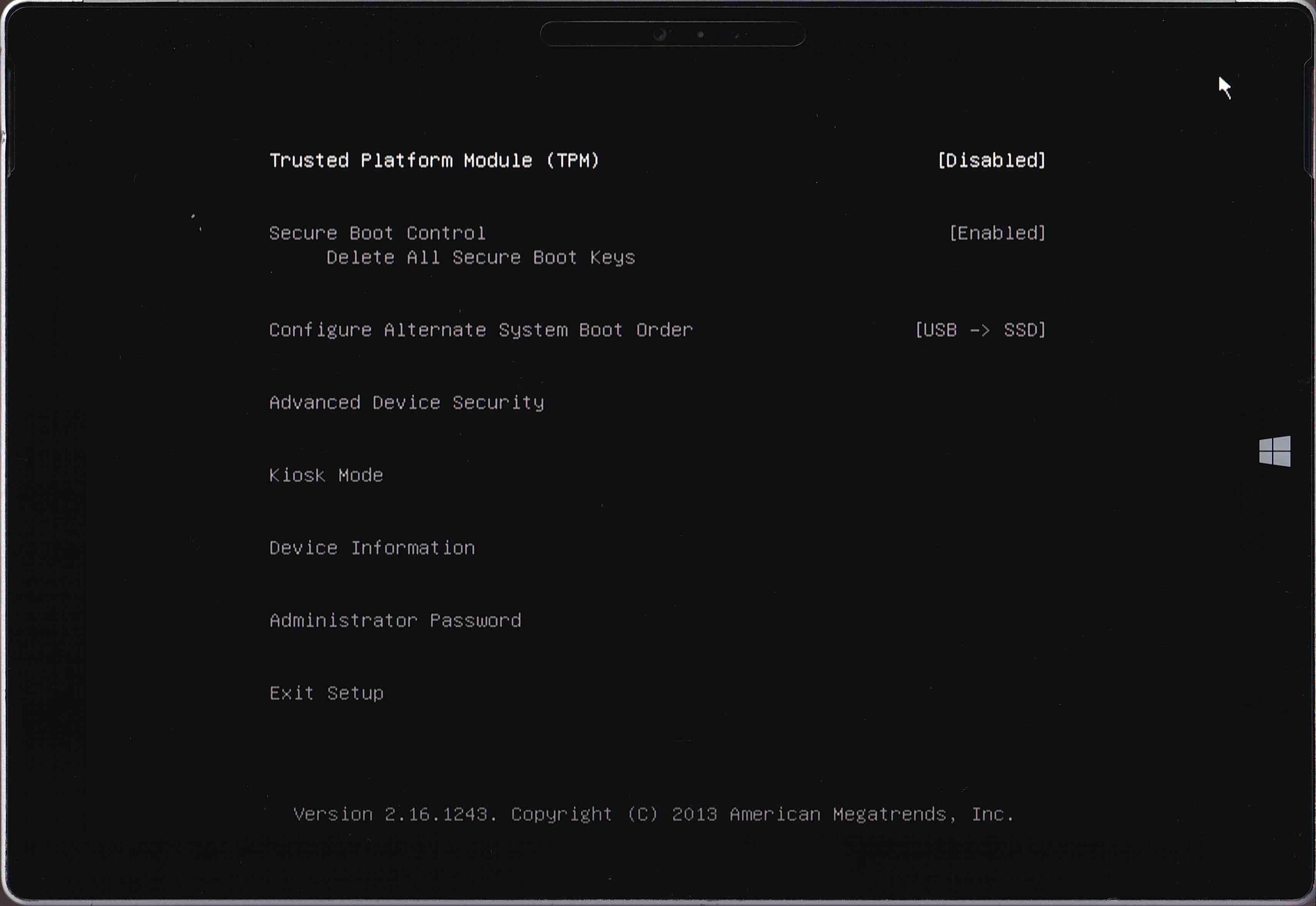 UEFI固件设置
