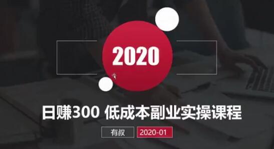《网赚日赚300元,低成本副业实操课》