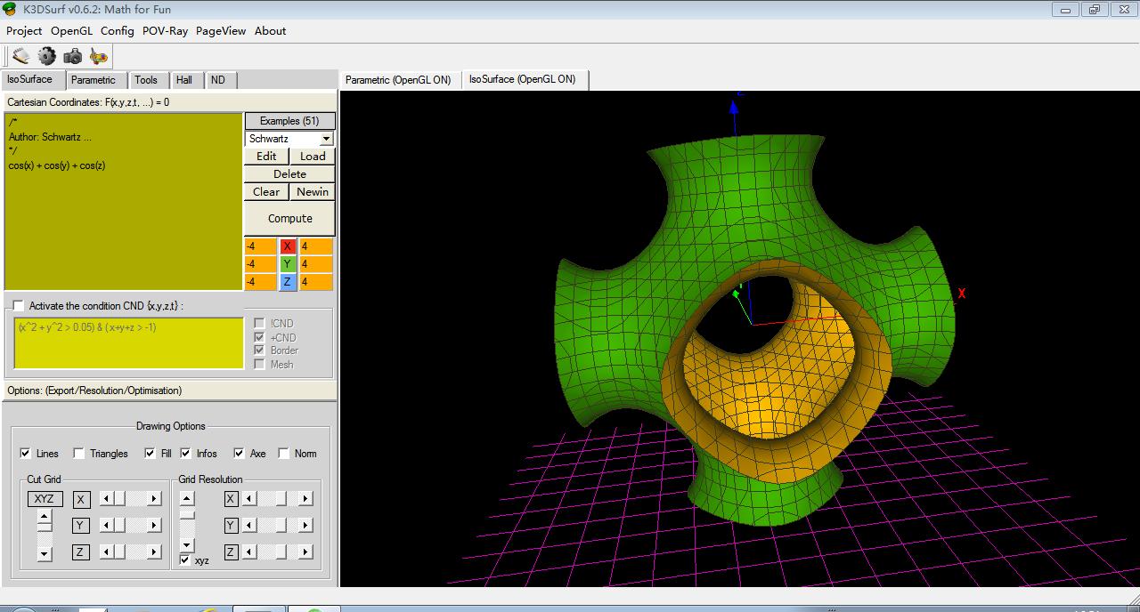 K3dsurf –一款好用的3D数学图像软件
