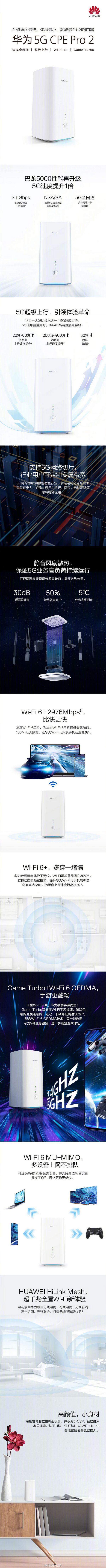 一图看懂华为 5G CPE Pro 2路由器-玩懂手机网 - 玩懂手机第一手的手机资讯网(www.wdshouji.com)