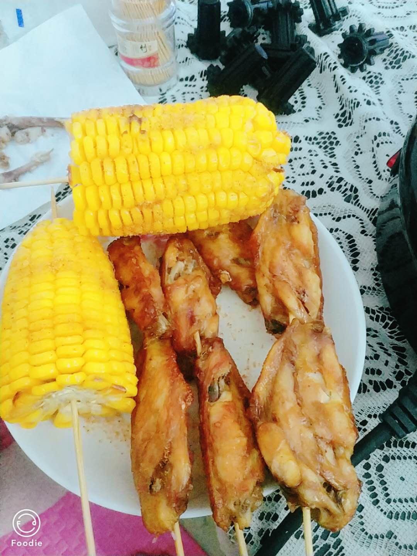 烤鸡翅玉米